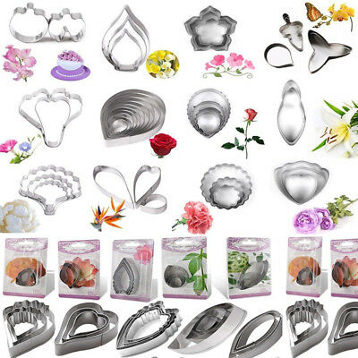 72Set Stainless Steel Biscuit Baking Flower Leaf Cutter Fondant Cake Cookie Mold