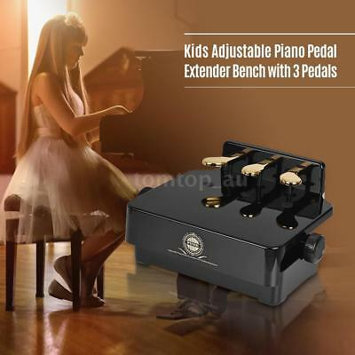 Adjustable Piano Pedal Extender for Kids Children Beginners 3 Pedals Black R6W8