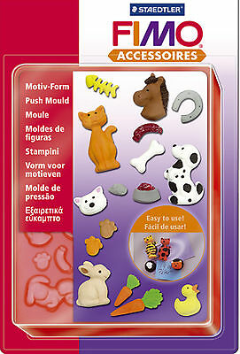 FIMO Sculpey Clay Push Moulds Pets For Modelling Jewellery Craft Art Fun 02