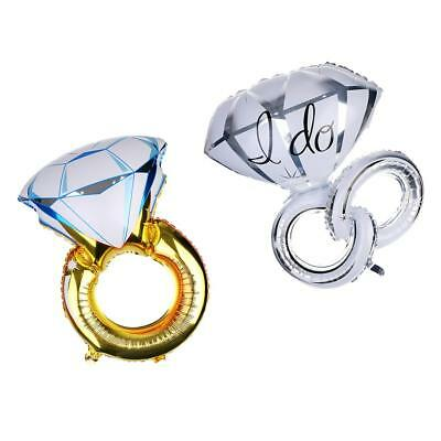 Set of 2pcs / Romantic Large Foil Ring Shape Balloons Party Decorating Kits