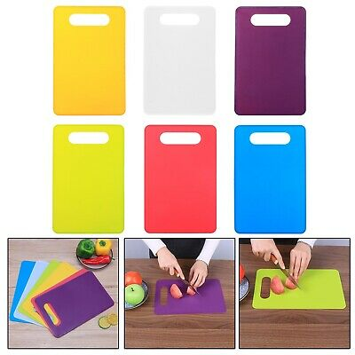 Non Slip Plastic Chopping Mat Vegetable Fruit Cutting Board Kitchen Tool 5Color