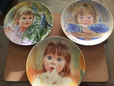 Frances Hook Legacy series Edwin M.Knowles 3 collector's plates with COA