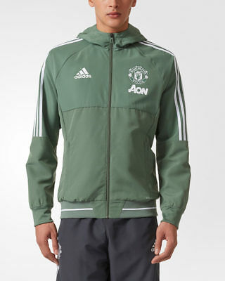 Manchester United Adidas Giacca Rappresentanza Pres jacket Verde 2017 18