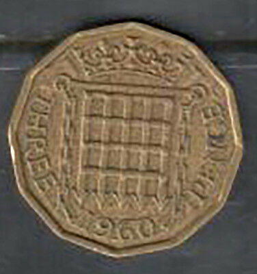 Great Britain - Three Pence Coin - 1960