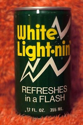 """Vintage Collectible Pull Top Steel Can White Lightnin' """"Refreshes in a Flash"""""""