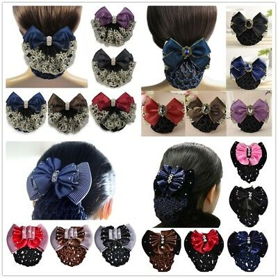 Women Tulle String Bow With Net Pocket Hairpin Hair Clip Headwear Accessories