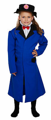 Girls Victorian Nanny Costume Mary Poppins Book Week Kids Fancy Dress Outfit