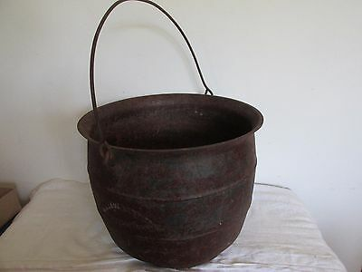 19th century antique cast iron kettle JMB Davidson & Co. Albany NY
