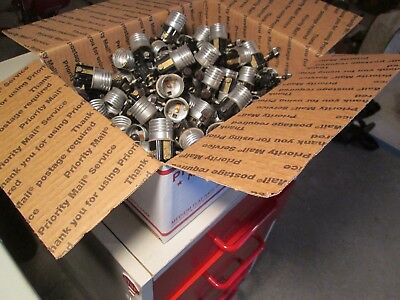 UUU Vtg  Medium Priority Box of 150+ Bakelite Leviton Lamp Sockets Light NOS