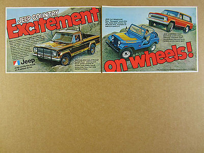 1978 AMC Jeep Golden Eagle Pickup CJ7 Renegade & Cherokee Chief vintage print Ad
