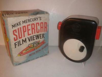Ultra Rare Gerry Anderson SUPERCAR 1961 8mm Film Viewer in box with cine film