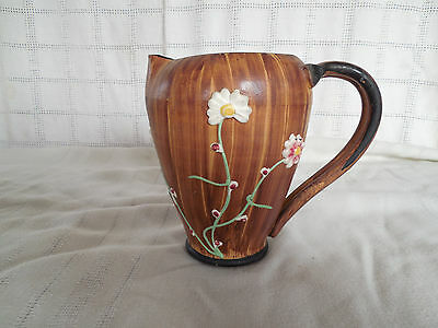 Ceramic small pitcher w/floral design Italy pottery