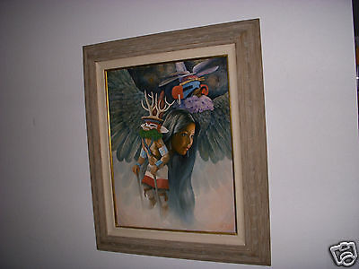 Original Native American Art  indian GIRL SIGNED BY ARTIST