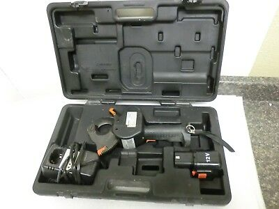 Burndy BCC1000CUAL 12V Cable Cutter + Battery, Charger  & Case