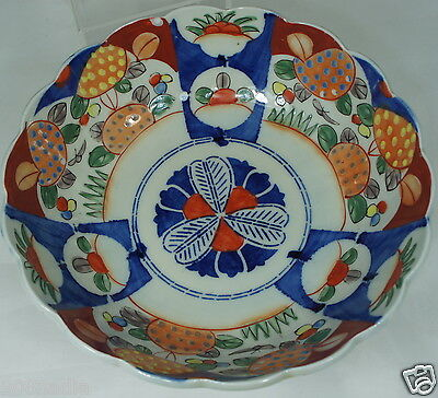 Antique Asian Japanese Or Chinese Traditional Imari Bowl Dish Panels