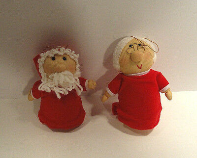 Avon Gift Collection Santa & Mrs. Claus Soft Christmas Ornaments