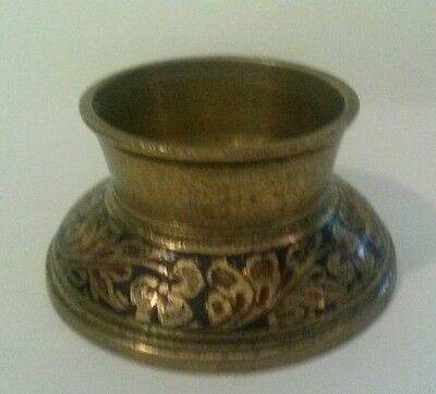 "Elephant Claw Bell Base Stand Only Brass Etched 1 5/8"" Fitter Made in India"