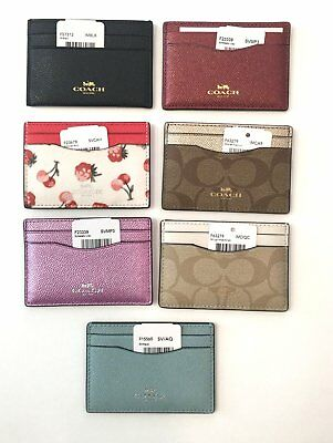 Coach Credit Card Case Id Case Nwt  Assortment Of Styles To Choose