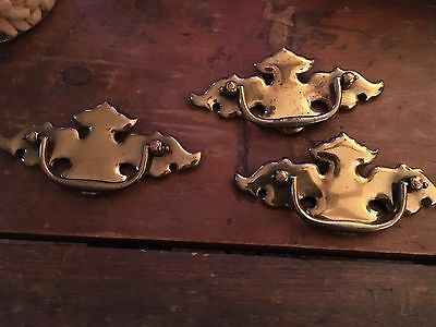 Antique Brass Chippendale Drawer Pulls ~3