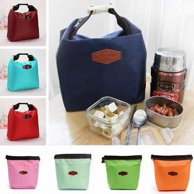 AU Portable Insulated Cooler Lunch Picnic Tote Bag Heat Protection Waterproof