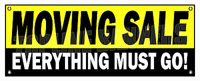 moving sale banner sign everything must go closing 14oz vinyl