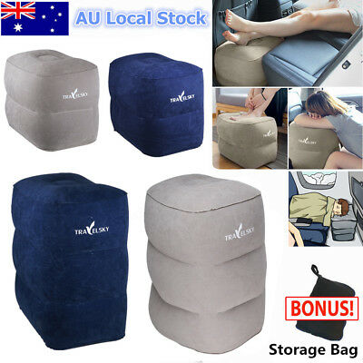 Inflatable Leg Foot Rest Footrest Pillow Recliner Relax Cushion Pad Portable