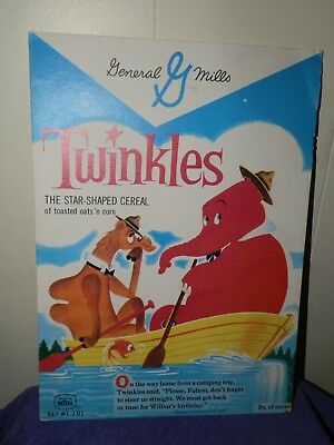 """Two Sided General Mills Twinkles Cereal-Cardboard advertising Sign 10 x 14"""""""