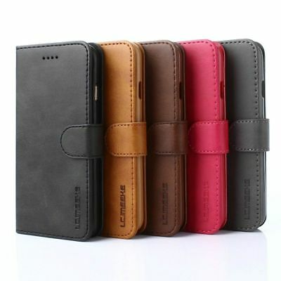 Luxury Magnetic Flip Cover Stand Wallet Leather Case For iPhone 10 X 6 7 8 Plus