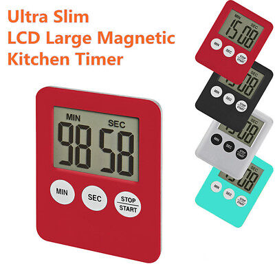Digital LCD Large Magnetic Kitchen Count Down Time Counter Cooking Magnet Timer