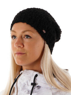 O'Neill Winter Hat Knitted Cap Boucle Black Chunky Metal