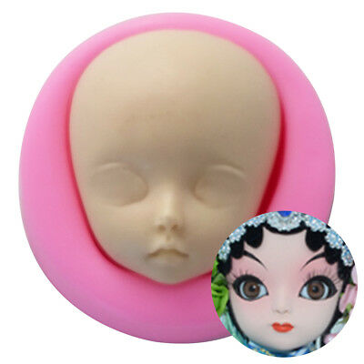 Baby Face Mold Clay Craft Molds Craft Dolls Face Mold Sugarcraft Baking Tools