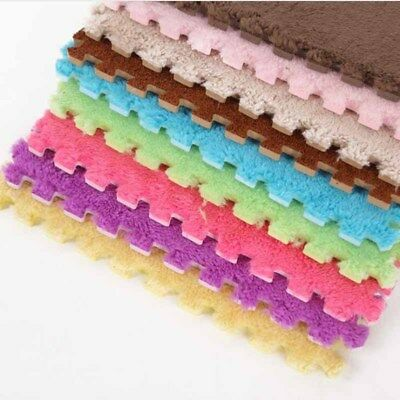 10Pcs Foam Carpets Play Puzzle Mat Interlocking Exercise Tiles Floor Carpets