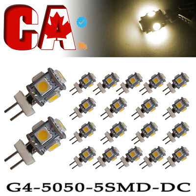 5 X Warm White RV T10 &1156 BA15S 48-SMD Panel Dome Map Interior LED Light Bulbs
