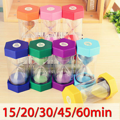 Glass Sand Timer 15 20 30 45 60min Teacher Autism Hourglass Clock Decor Gift