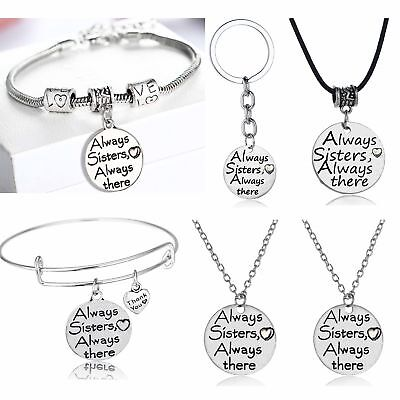 Sisters Gifts Necklace Bracelet Keyring Best Friends Presents Jewelry Birthday