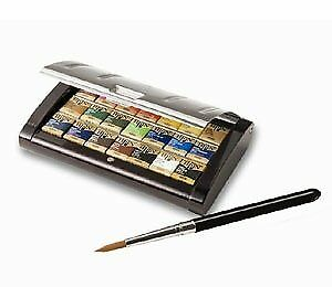 Holbein solid watercolors artist bread color 21-color set Echizen lacquer made