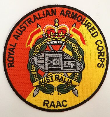 Royal Australian Armoured Corps Patch With Heat Adhesive Backing 90Mm In Dia