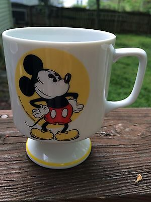 CUTE Vintage Walt Disney Productions MICKEY MOUSE Pedestal Tea Or Coffee Cup Mug