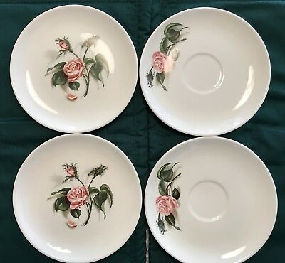 """Vintage Universal Pottery China Ballerina """"moss Rose"""" 2 B & B's, 2 Saucers - Exc"""