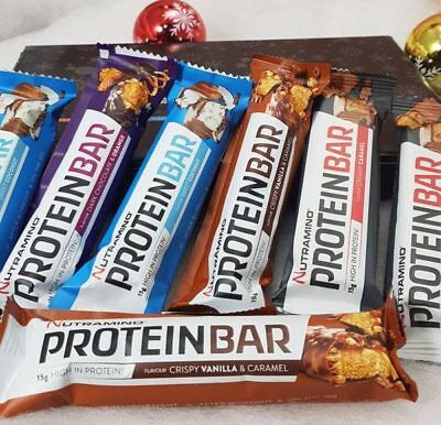 Nutramino Protein Bars 7 x 50g High Protein Bars Low Carb & Sugar Bar BBE 06/18