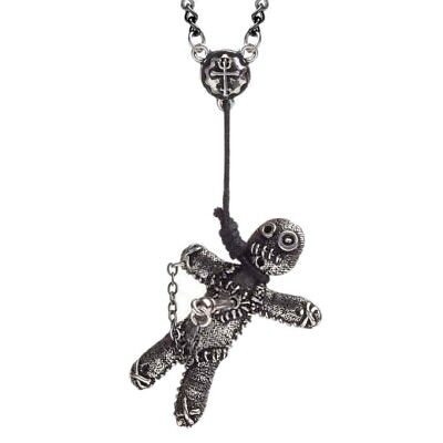 ALCHEMY VOODOO DOLL PENDANT Gothic Folk Magic Pagan Witch Pewter + FREE GIFT BOX