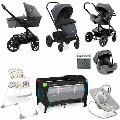 New Joie Chrome Dlx Pavement Everything You Need I-Gemm Travel System Bundle