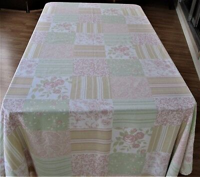 Vintage Tablecloth Shabby/Cottage Chic , Cotton Vintage French Country Large Tab