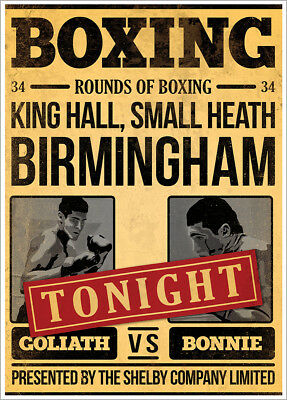 Inspired By Peaky Blinders Goliath Vs Bonnie Mini Poster 32x44cm