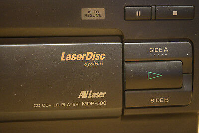 SONY LASER DISC MDP-500 CD CDV LD LASERDISC PLAYER with Remote and Manual