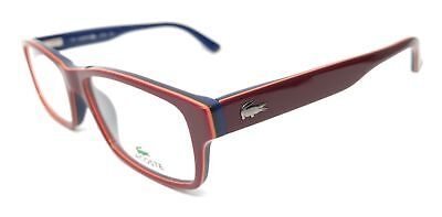 9d97cb65fad NEW ORIGINAL LACOSTE L2705 603 Red Blue Unisex s Eyeglasses 53mm 17 ...