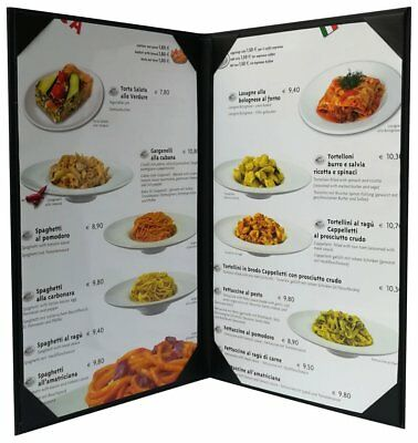 "5 Pcs of Restaurant Menu Covers Holders 8.5"" X 14"" Inches,Double View,Sold By"