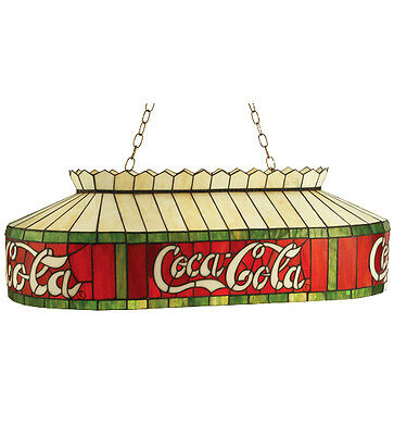 """Coca Cola 24"""" Stain Glass Billiards Light Coke Stained Glass Ceiling Lighting"""