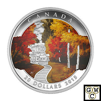 2015 'Autumn Express' Colorized Proof $20 Silver Coin 1oz .9999Fine (NT) (17485)