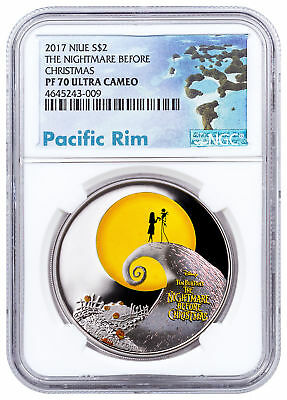 2017 Niue Disney The Nightmare Before Christmas 1 oz Silver NGC PF70 UC SKU51576